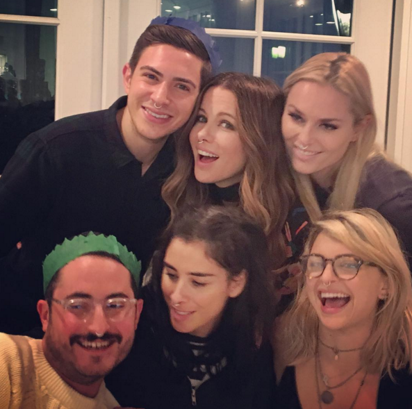"""<p>The actress hosted a party for family and friends, including Sarah Sliverman (her ex Michael Sheen's girlfriend) and Lindsey Vonn. Not only did she <a rel=""""nofollow noopener"""" href=""""https://www.instagram.com/p/BOfV0SUhFT7/?taken-by=lindseyvonn"""" target=""""_blank"""" data-ylk=""""slk:make snow"""" class=""""link rapid-noclick-resp"""">make snow</a> for the occasion, but she apparently also handed out nose rings. (Photo: <a rel=""""nofollow noopener"""" href=""""https://www.instagram.com/p/BOf2DJQj14I/?taken-by=katebeckinsale"""" target=""""_blank"""" data-ylk=""""slk:Instagram"""" class=""""link rapid-noclick-resp"""">Instagram</a>) </p>"""