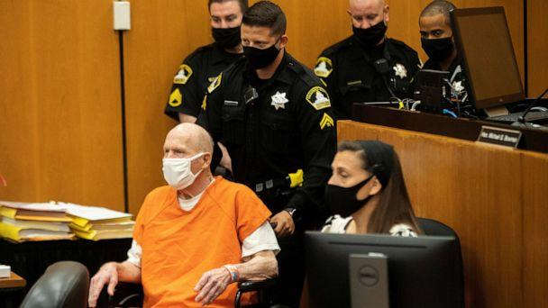 PHOTO: Joseph James DeAngelo, known as the Golden State Killer, arrives for the first day of victim impact statements at the Gordon D. Schaber Sacramento County Courthouse in Sacramento, Calif., Aug. 18, 2020. (Santiago Mejia/Reuters)