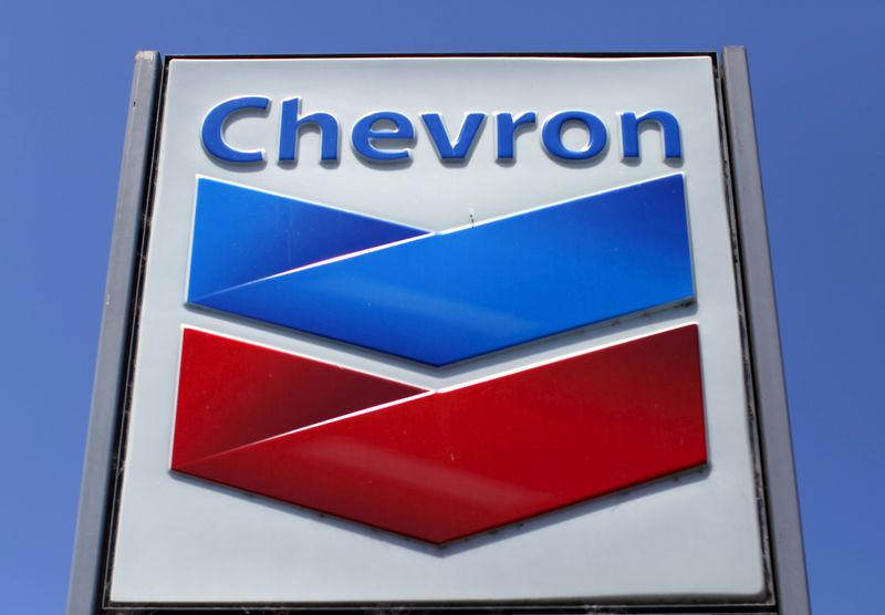 FILE PHOTO: File photo of a Chevron gas station sign in Del Mar, California