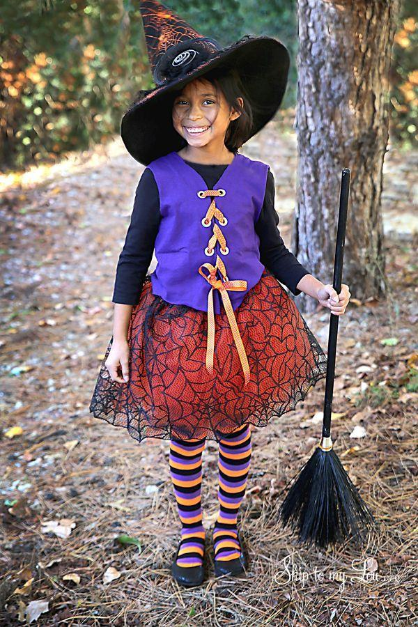 """<p>Everything about this colorful witch costume screams Halloween! You can craft the entire outfit without having to sew a thing. You'll need to buy the hat, striped tights, and broom, which you can find at your nearest Halloween store.</p><p><strong>Get the tutorial at <a href=""""https://www.skiptomylou.org/no-sew-witch-costume/"""" rel=""""nofollow noopener"""" target=""""_blank"""" data-ylk=""""slk:Skip to My Lou"""" class=""""link rapid-noclick-resp"""">Skip to My Lou</a>.</strong></p><p><a class=""""link rapid-noclick-resp"""" href=""""https://www.amazon.com/s?k=orange+tulle&ref=nb_sb_noss&tag=syn-yahoo-20&ascsubtag=%5Bartid%7C2164.g.37050429%5Bsrc%7Cyahoo-us"""" rel=""""nofollow noopener"""" target=""""_blank"""" data-ylk=""""slk:SHOP ORANGE TULLE"""">SHOP ORANGE TULLE</a></p><p><a class=""""link rapid-noclick-resp"""" href=""""https://www.amazon.com/Blulu-Halloween-Spiderweb-Tablecloth-Fireplace/dp/B07GBXPXBT/?tag=syn-yahoo-20&ascsubtag=%5Bartid%7C2164.g.37050429%5Bsrc%7Cyahoo-us"""" rel=""""nofollow noopener"""" target=""""_blank"""" data-ylk=""""slk:SHOP BLACK SPIDERWEB LACE"""">SHOP BLACK SPIDERWEB LACE</a></p><p><a class=""""link rapid-noclick-resp"""" href=""""https://www.amazon.com/Gildan-Cotton-T-Shirt-2-Pack-Purple/dp/B07M8HXZNM/?tag=syn-yahoo-20&ascsubtag=%5Bartid%7C2164.g.37050429%5Bsrc%7Cyahoo-us"""" rel=""""nofollow noopener"""" target=""""_blank"""" data-ylk=""""slk:SHOP PURPLE T-SHIRTS"""">SHOP PURPLE T-SHIRTS</a></p>"""