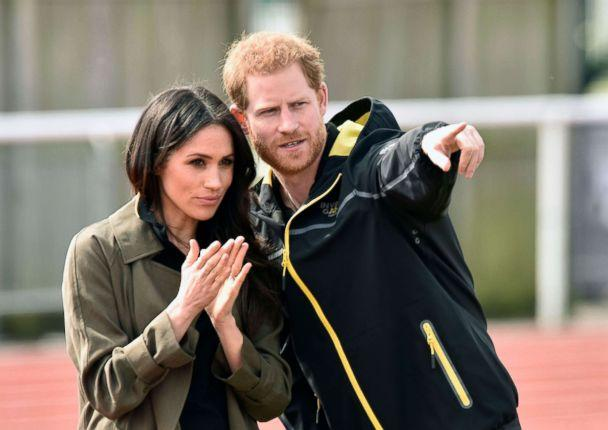 PHOTO: Prince Harry and Meghan Markle visit Bath University, in Bath, Britain, April 6, 2018, to view hopeful candidates for the UK Team Trial for the Invictus Games in Sydney in 2018. (Neil Munns/EPA-EFE/REX/Shutterstock)