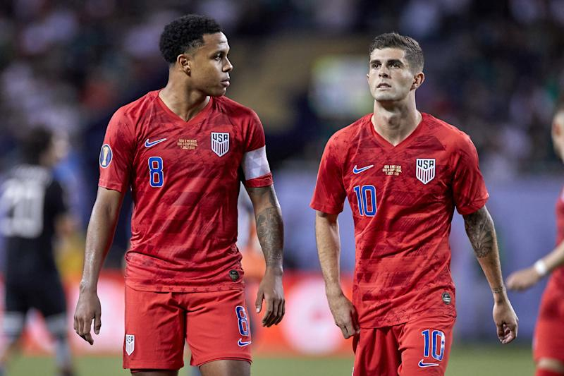 U.S. fans won't see Weston Mckennie (left) or Christian Pulisic (right) play for the national team again until at least November. (Robin Alam/Getty Images)
