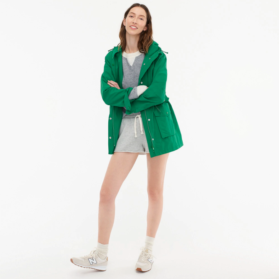"""<h2>J.Crew Perfect Lightweight Jacket</h2><br>People saw <a href=""""https://www.refinery29.com/en-us/2021/03/10355061/meghan-markle-oprah-interview-j-crew-green-jacket-on-sale"""" rel=""""nofollow noopener"""" target=""""_blank"""" data-ylk=""""slk:Megan Markle wearing a J.Crew jacket"""" class=""""link rapid-noclick-resp"""">Megan Markle wearing a J.Crew jacket</a> and jeans, so people bought a J.Crew jacket and jeans. After donning it during her infamous tell-all interview with Oprah, people rushed to cart the utility-style coat aptly dubbed the """"perfect lightweight jacket"""" — which, from the looks of it, appears to be an ideal transitional-spring piece you can sport while running errands on a rainy April day or while feeding your chickens with Oprah. <br><br><em>Shop <strong><a href=""""https://www.jcrew.com/p/womens_category/coats_and_jackets/rain_jacket/perfect-lightweight-jacket/H8701"""" rel=""""nofollow noopener"""" target=""""_blank"""" data-ylk=""""slk:J.Crew"""" class=""""link rapid-noclick-resp"""">J.Crew</a></strong></em><br><br><strong>J.Crew</strong> Perfect lightweight jacket, $, available at <a href=""""https://go.skimresources.com/?id=30283X879131&url=https%3A%2F%2Fwww.jcrew.com%2Fp%2Fwomens_category%2Fcoats_and_jackets%2Frain_jacket%2Fperfect-lightweight-jacket%2FH8701"""" rel=""""nofollow noopener"""" target=""""_blank"""" data-ylk=""""slk:J.Crew"""" class=""""link rapid-noclick-resp"""">J.Crew</a>"""