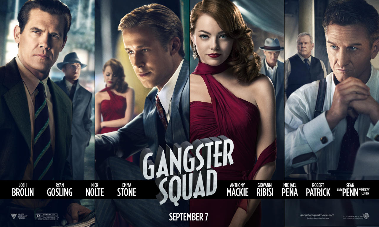 """Warner Bros. Pictures' """"The Gangster Squad"""" - 2012<br><br><a href=""""http://l.yimg.com/os/251/2012/07/17/GS-HORIZ-DEBUT-DOM-jpg_162749.jpg"""">View Full Size>></a>"""