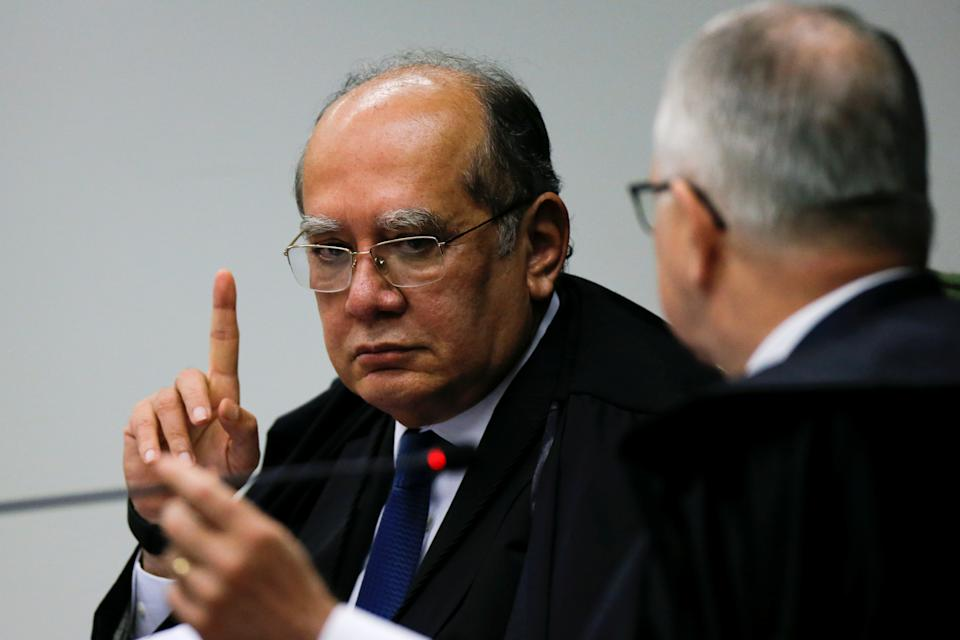 Judge Gilmar Mendes attends a session of the Supreme Court in Brasilia, Brazil June 11, 2019. REUTERS/Adriano Machado