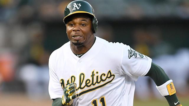 Oakland Athletics outfielder Rajai Davis has been traded to the Boston Red Sox in MLB.
