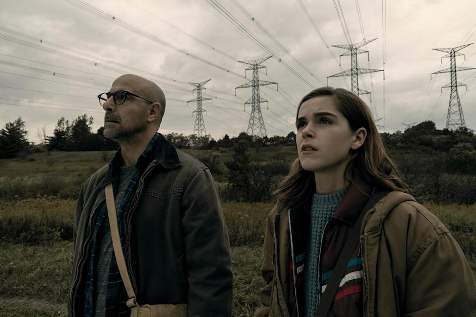 "<p>Kiernan Shipka stars as 16-year-old Ally Andrews, a young woman who lost her hearing at 13. Now the world is under attack by beings who hunt by sound (yes, kind of like <em>A Quiet Place</em>). Oh, and there's a cult who wants to exploit her heightened senses. It's just the sort of tense thriller you want for a Friday movie night.</p> <p><a href=""https://www.netflix.com/title/81021447"" rel=""nofollow noopener"" target=""_blank"" data-ylk=""slk:Available to stream on Netflix."" class=""link rapid-noclick-resp""><em>Available to stream on Netflix.</em></a></p>"