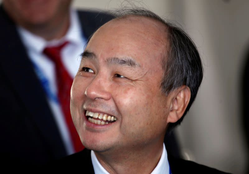 FILE PHOTO: Masayoshi Son, CEO of Softbank, pictured during a visit to the United States