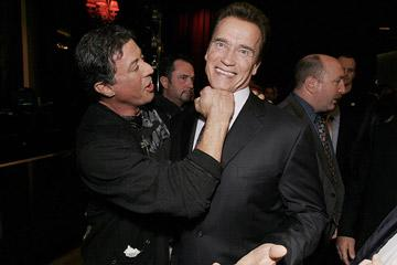 "Premiere: <a href=""/movie/contributor/1800020291"">Sylvester Stallone</a> and Governor<a href=""/movie/contributor/1800021514""> Arnold Schwarzenegger</a> at the Las Vegas premiere of Lionsgate Films' <a href=""/movie/1809833626/info"">Rambo</a> - 01/24/2008<br>Photo: <a href=""http://www.wireimage.com/"">Eric Charbonneau, WireImage.com</a>"