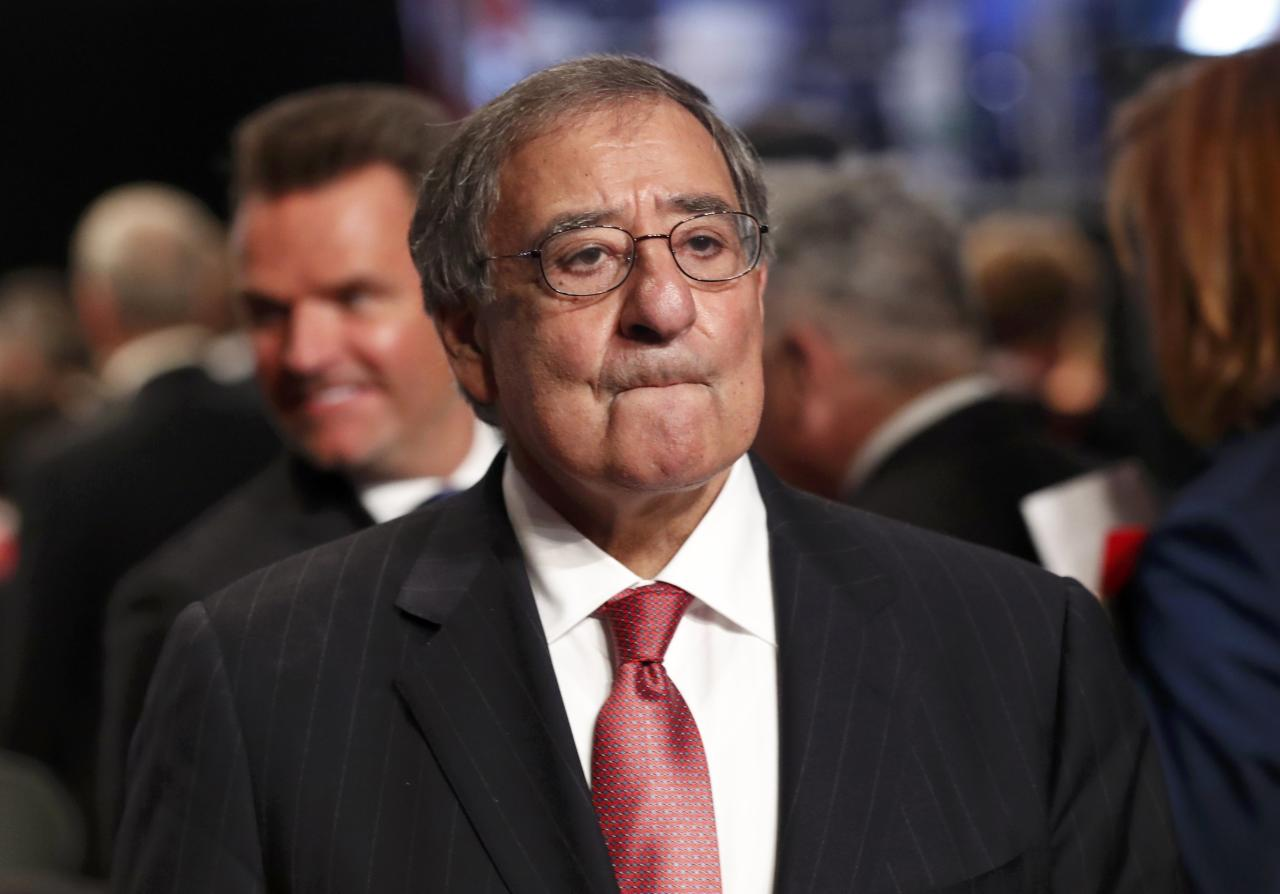 Former Director of the Central Intelligence Agency and former Defense Secretary Leon Panetta waits for the start of the third and final debate between Republican U.S. presidential nominee Donald Trump and Democratic nominee Hillary Clinton at UNLV in Las Vegas, Nevada, U.S., October 19, 2016.  REUTERS/Rick Wilking