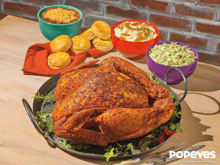 Popeyes is bringing back its Cajun Style Turkey for Thanksgiving.