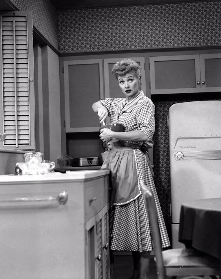 <p>On air from 1951 to 1957, Lucille Ball won hearts as Lucy Ricardo, a middle-class housewife prone to hilarious antics and charmingly sticky situations. The sitcom carried on from 1957 to 1960 with 13 one-hour specials, dubbed <em>The Lucille Ball-Desi Arnaz Show</em> (and later <em>The Lucy-Desi Comedy Hour, </em>in reruns). <br></p>
