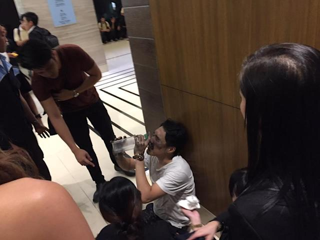<p>Scene after a terror attack at Resorts World in Manila, Phillipines on June 1, 2017. (Photo: Tikos Low/Facebook) </p>