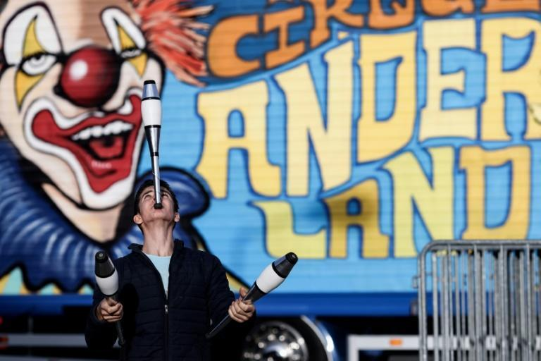 Leyns Dubois, a young juggler of 16, keeps training even though his circus has been stuck for nine months