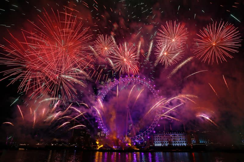 World welcomes 2020, but wildfires, protests, cast a pall over some celebrations
