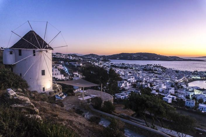 """<div class=""""inline-image__caption""""><p>One of the windmills overlooking the Chora of Mykonos.</p></div> <div class=""""inline-image__credit"""">Demetrios Ioannou</div>"""