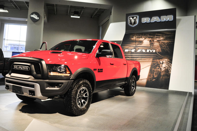 WASHINGTON, DC - JANUARY 28: A 2016 RAM 1500 is on display during the Washington Auto Show at the Washington Auto Show in Washington DC on January 28, 2016. (Kris Connor/Getty Images)