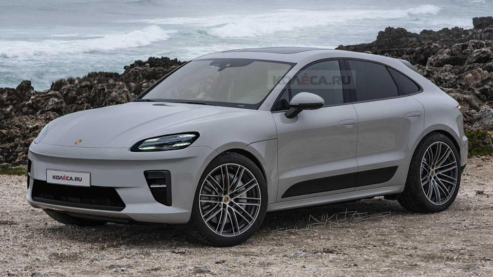 2022 Porsche Macan Electric rendering based on clay model