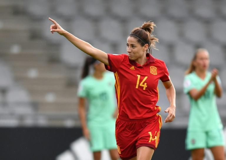 Vicky Losada of Spain scored the opening goal of her team's Group D Euro opener match against Portugal, setting Spain up for a comfortable 2-0 win
