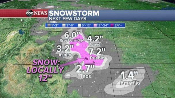 PHOTO: Snowstorm forecast (ABC News)
