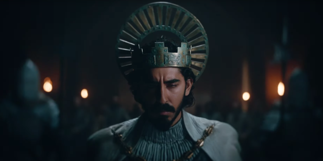 Dev Patel in The Green Knight. (YouTube/A24)