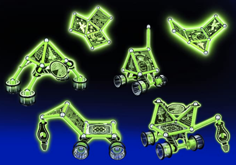 Geomag Glow Kit – 60 Piece Glow in the Dark Lunar Vehicle Magnetic Construction Set. (PHOTO: Amazon)