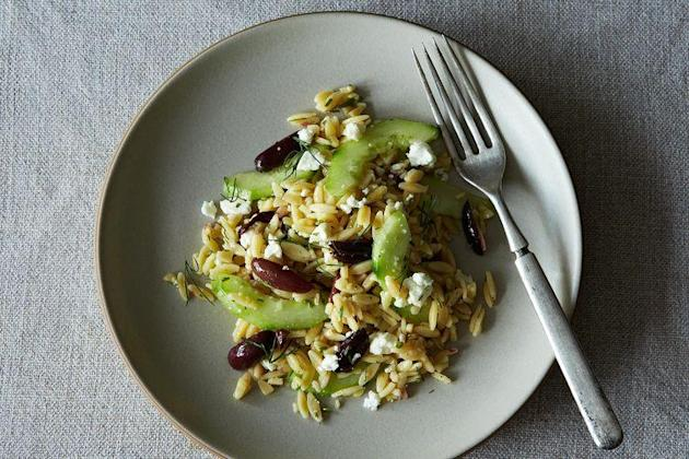 Lemon-Dill Orzo Pasta Salad with Cucumbers, Olives & Feta on Food52