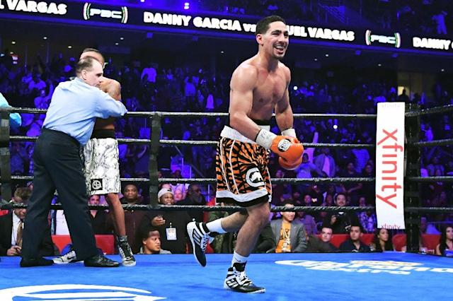 Danny Garcia, pictured in 2016, has a 33-0 record with 19 knockouts (AFP Photo/Drew Hallowell)