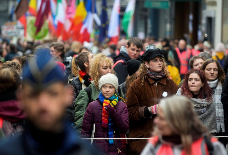 FILE PHOTO: Swedish climate activist Greta Thunberg takes part in the ''Europe Climate Strike'' rally in Brussels