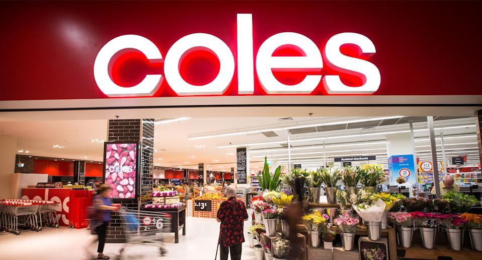 Front of a Coles store.