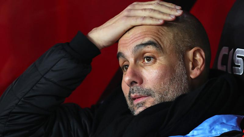 Manchester City manager Pep Guardiola's future is uncertain in the wake of the club's two-year ban from UEFA competition.. (Photo by Catherine Ivill/Getty Images)