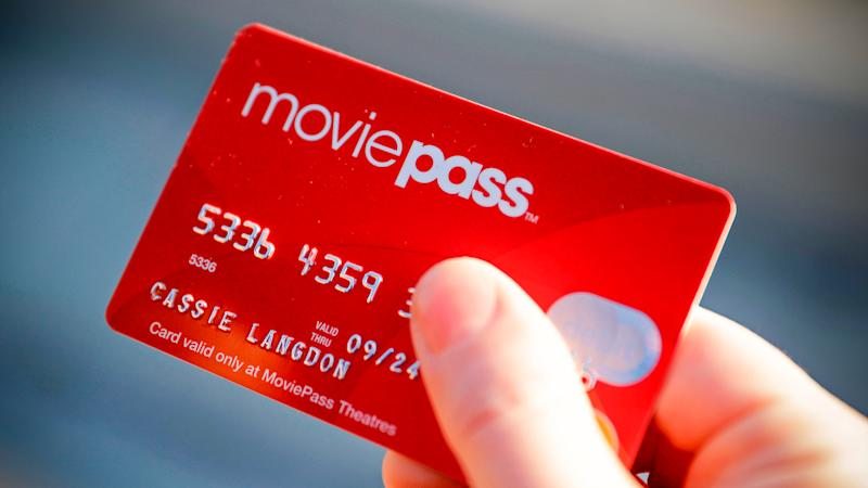 Photo by Darron Cummings/AP/REX/ShutterstockCassie Langdon holds her MoviePass card outside AMC Indianapolis 17 theatre in Indianapolis.