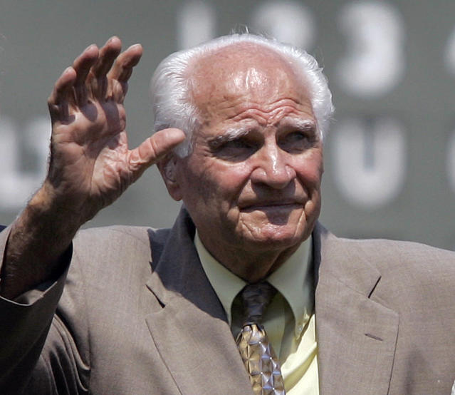 Former Red Sox second baseman and Hall of Famer Bobby Doerr, pictured here in 2007, died in Oregon on Monday at age 99. (AP Photo)