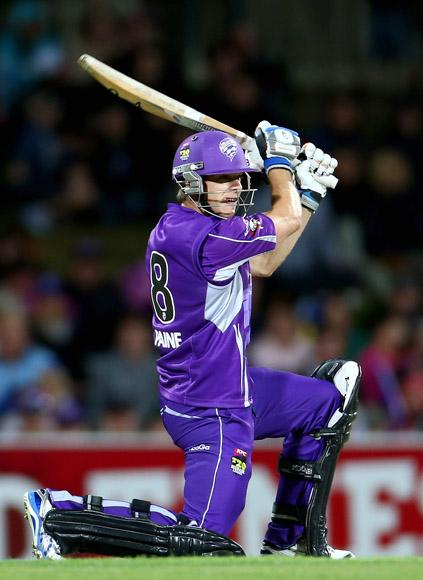 Tim Paine of the Hurricanes bats during the Big Bash League match between the Hobart Hurricanes and the Perth Scorchers at Blundstone Arena on January 1, 2013 in Hobart, Australia.  (Photo by Robert Cianflone/Getty Images)