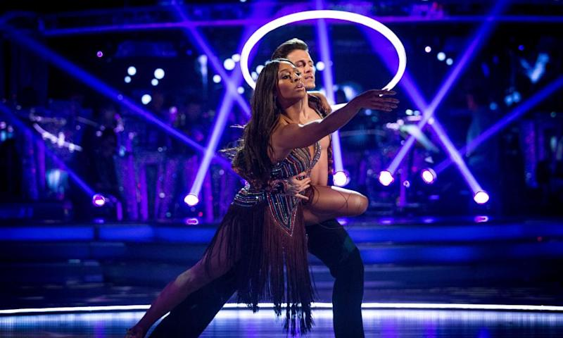 Alexandra Burke and Gorka Marquez on Strictly Come Dancing.