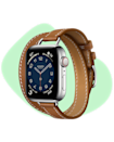 """The Hermes Apple Watch is for all the fashion moms that love tech! Dress it up, dress it down – we are sure she will love it. $1399, Apple. <a href=""""https://www.apple.com/shop/buy-watch/apple-watch-hermes/40mm-cellular-silver-stainless-steel-fauvebarenia-attelage-double-tour-onesize"""" rel=""""nofollow noopener"""" target=""""_blank"""" data-ylk=""""slk:Get it now!"""" class=""""link rapid-noclick-resp"""">Get it now!</a>"""