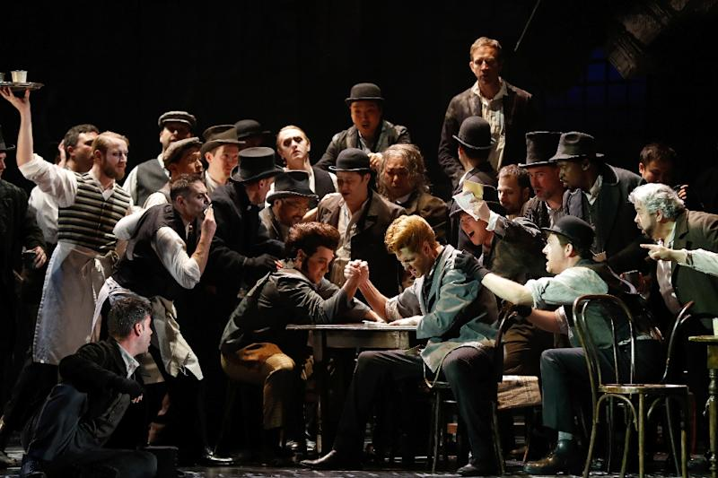 """For his latest project, Gilliam, 77, is directing the opera """"Benvenuto Cellini"""" in Paris (AFP Photo/FRANCOIS GUILLOT)"""
