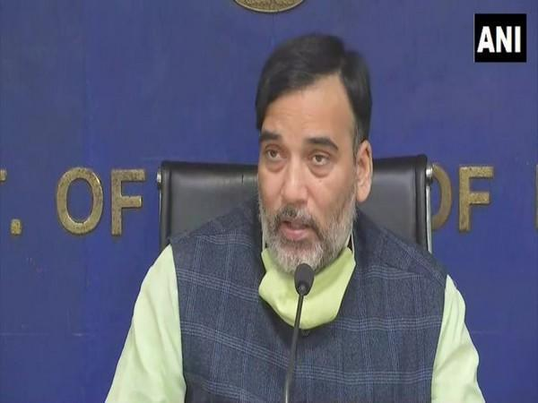 Delhi Environment Minister Gopal Rai speaking at a press conference on Friday. Photo/ANI