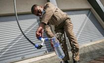 Watergen has developed atmospheric water generators that can produce 5,000 to 6,000 litres of drinking water per day, depending on the air's humidity, and donated two machines to the Gaza Strip