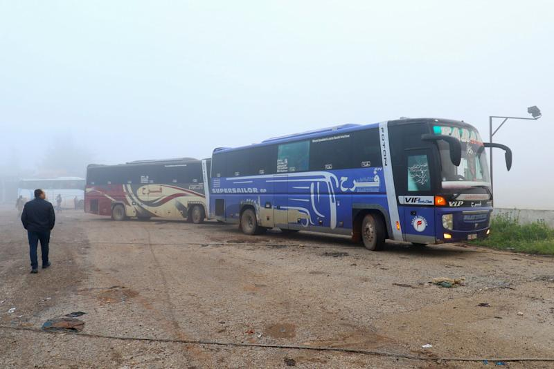 syria evacuation bus