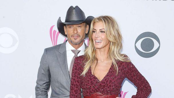 PHOTO: Tim McGraw and Faith Hill arrive at the 52nd Academy of Country Music Awards held at T-Mobile Arena, April 2, 2017, in Las Vegas. (Michael Tran/FilmMagic via Getty Images)