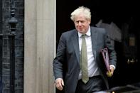 Le Premier ministre britannique Boris Johnson sort du 10 Downing Street, le 23 septembre 2020 à Londres