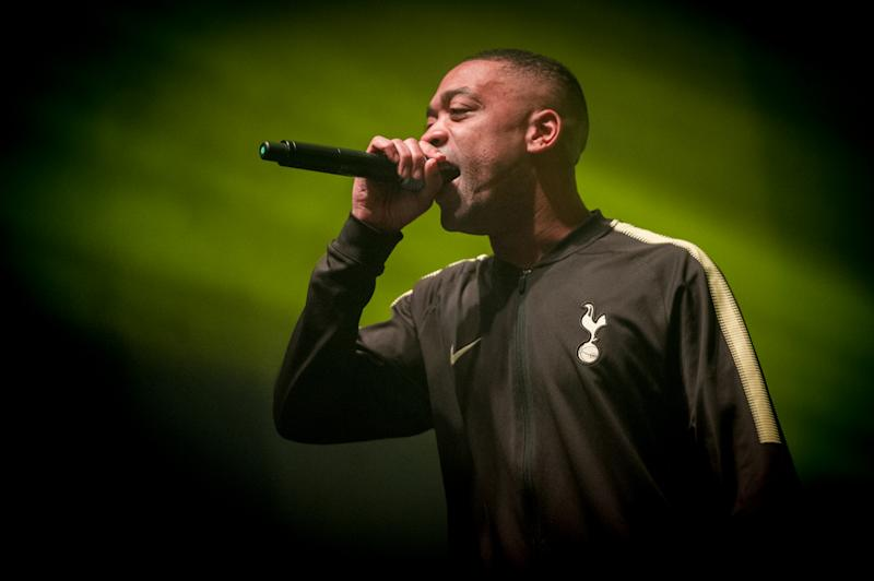 LONDON, ENGLAND - MARCH 02: Wiley performs at O2 Academy Brixton hours after recieving his MBE from the Duke of Cambridge at the 2018 New Year Investitures ceremony on March 2, 2018 in London, England. (Photo by Ollie Millington/Redferns)