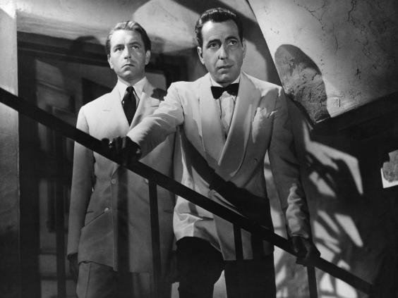 Humphrey Bogart's character owns a nightclub in Casablanca (Rex Features)