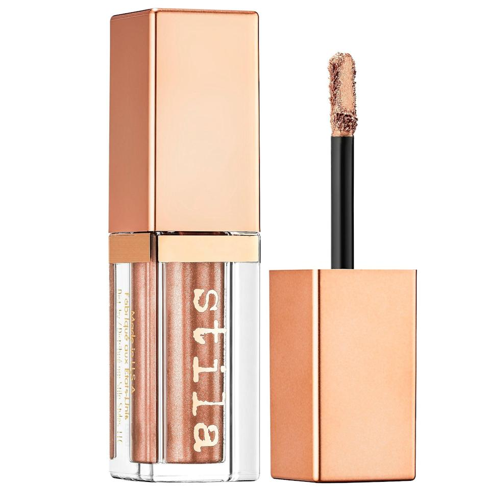 "<h3>Stila Shimmer & Glow Liquid Eye Shadow</h3> <br>Words cannot accurately describe how pretty Stila's liquid eyeshadows are. In a single swipe, your lids are kissed with scintillating, shimmery color that won't move or budge.<br><br><strong>Stila</strong> Shimmer & Glow Liquid Eye Shadow, $, available at <a href=""https://go.skimresources.com/?id=30283X879131&url=https%3A%2F%2Ffave.co%2F2B8Z0q0"" rel=""nofollow noopener"" target=""_blank"" data-ylk=""slk:Sephora"" class=""link rapid-noclick-resp"">Sephora</a><br>"