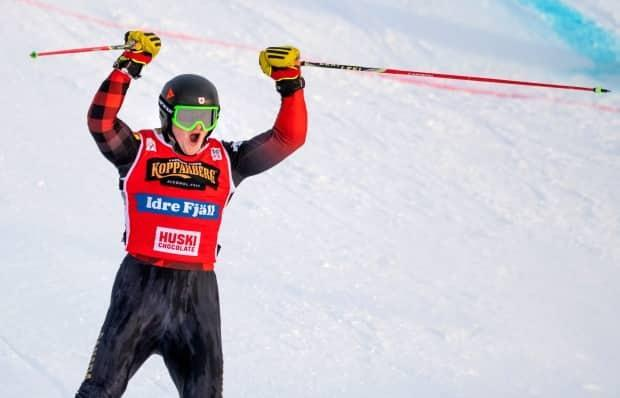 Canada's Reece Howden, seen above in January, sits atop the World Cup ski cross season standings with 550 points.