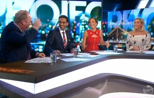 The panel laughed it off. Photo: Network Ten