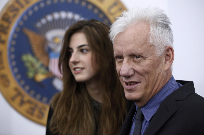James Woods dated Kristen Bauguess, who was then 20, in 2013. (Lucas Jackson / Reuters)