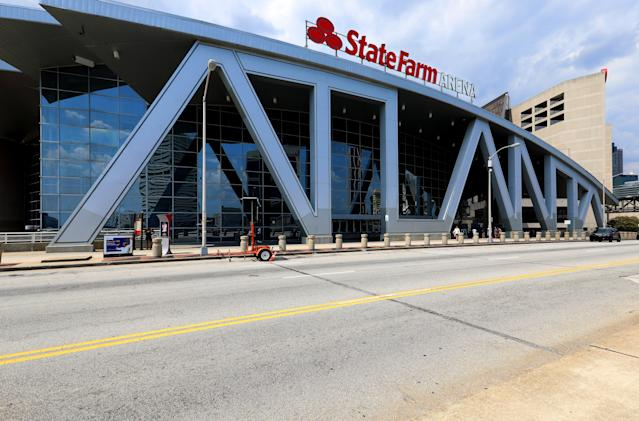 State Farm Arena will become a voting place for the Georgia primary runoff and the presidential election. (Photo By Raymond Boyd/Getty Images)
