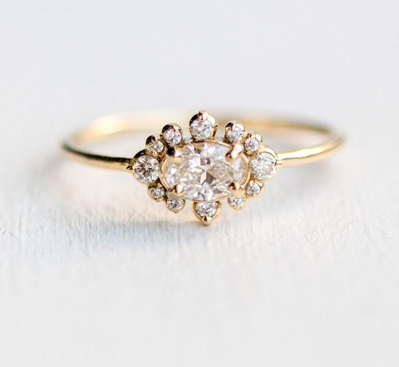 """<i>Buy it from <a href=""""https://www.melaniecasey.com/castle-in-the-clouds-ring/"""" target=""""_blank"""">Melanie Casey Jewelry</a>for$3,200.</i>"""